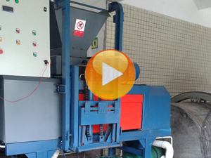organic waste shredding and dewatering