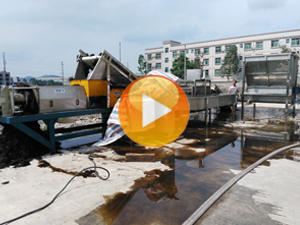 herbs medicine residue washing and dewatering