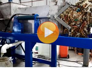 household waste dewatering screw press
