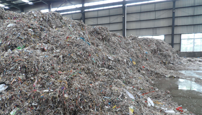 Plastic Waste From Pulp And Paper Mill Industry Recycling