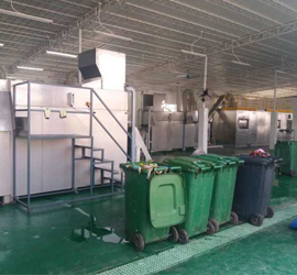 food waste recycling line
